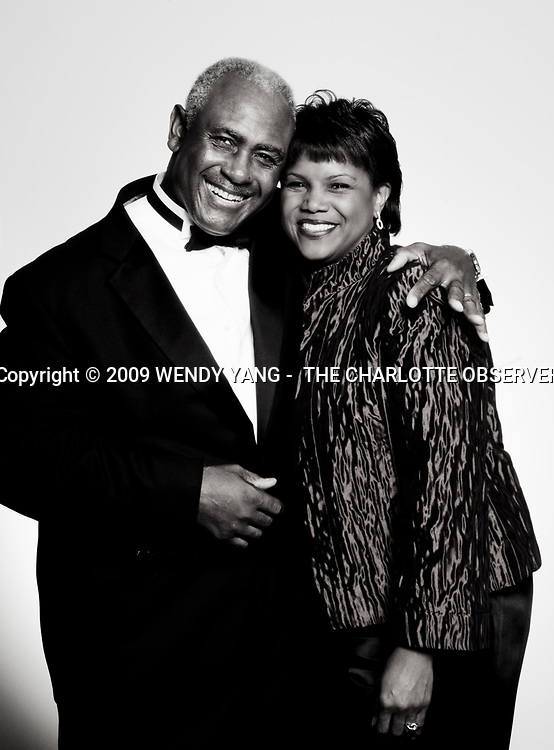 That's former Charlotte mayor Harvey Gantt and his daugther, Sonja Gantt, at the 2009 Founders Society Gala at the new Harvey B. Gantt Center for African-American Arts + Culture Friday, Oct. 23, 2009. WENDY YANG - wyang@charlotteobserver.com