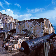 Cannons at El Morro fort.San Juan, Puerto Rico