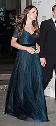 The Duchess of Cambridge departs after attending the Portrait Gala 2014 at the National Portrait Galley, London, United Kingdom. Tuesday, 11th February 2014. Picture by i-Images