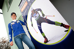 Teja Gregorin, Slovenian biathlon athlete at opening ceremony of her rebuilded house after she moved from Ihan, on November 10, 2011, in Hotemaze at Kranj, Slovenia. (Photo by Vid Ponikvar / Sportida)