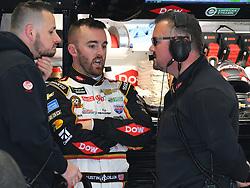 February 23, 2019 - Hampton, GA, U.S. - HAMPTON, GA - FEBRUARY 23: Austin Dillon, Richard Childress Racing, Chevrolet Camaro Dow (3) talks to his crew chief Danny Stockman during practice for the Monster Energy Cup Series QuikTrip Folds of Honor 500 on February 23, 2019, at Atlanta Motor Speedway in Hampton, GA.(Photo by Jeffrey Vest/Icon Sportswire) (Credit Image: © Jeffrey Vest/Icon SMI via ZUMA Press)
