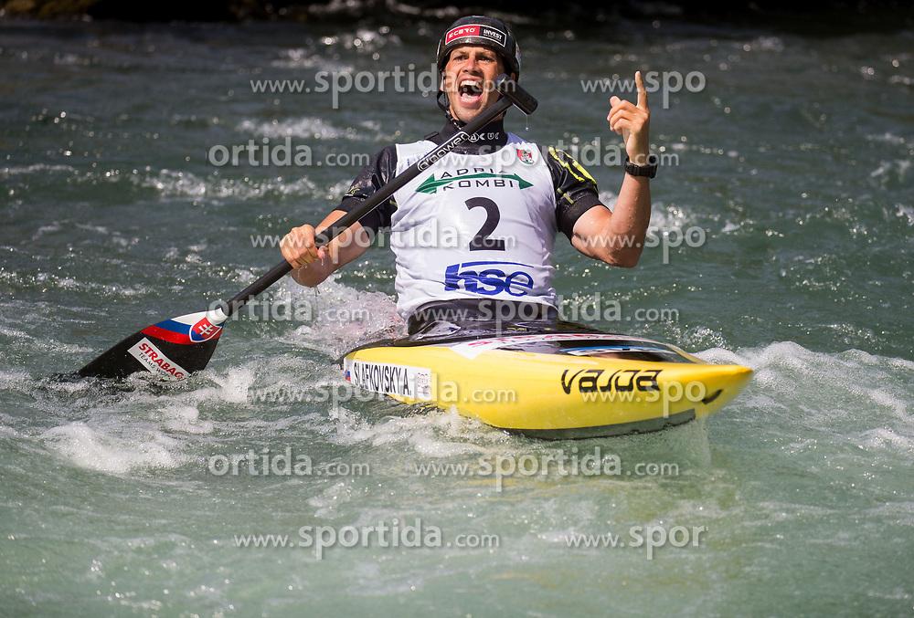 Winner Alexander Slafkovsky of Slovakia reacts after competing in Final of Canoe Single Men C1  during Day 4 of 2017 ECA Canoe Slalom European Championships, on June 4, 2017 in Tacen, Ljubljana, Slovenia. Photo by Vid Ponikvar / Sportida