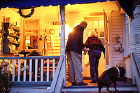 "REEDVILLE, VA - DECEMBER 12:  Rural Doctor Emery Lewis makes a house call visit to his patient and friend, Zilphia ""Zip"" O'Halloran, 83 years old, in Reedville, Virginia, Monday, December 12, 2011.  With approximately 65 percent of his patients insured by Medicare, Doctor Lewis, is watching the upcoming DocFix vote in Congress closely.  (Photo by Melina Mara/The Washington Post) . ..."