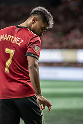 December 8, 2018 - Atlanta, Georgia, United States - Atlanta United forward JOSEF MARTINEZ (7) celebrates his goal during the MLS Cup at Mercedes-Benz Stadium in Atlanta, Georgia.  Atlanta United defeats Portland Timbers 2-0 (Credit Image: © Mark Smith/ZUMA Wire)