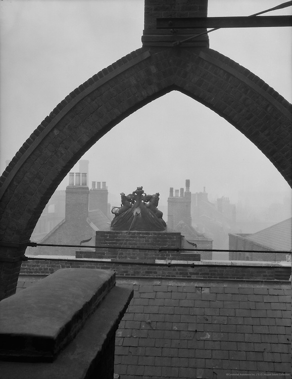 Rooftops and Chimneys, Doulton's Pottery, England, 1928