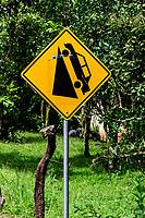 Steep hill road sign; Azuero Peninsula, Panama