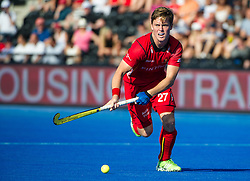 Belgium's Tom Boon. Belgium v Germany - Unibet EuroHockey Championships, Lee Valley Hockey & Tennis Centre, London, UK on 22 August 2015. Photo: Simon Parker