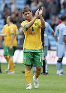 Coventry - Saturday August 9th, 2008: Leon McKenzie of Norwich City applauds the Norwich fans after his teams 2-0 loss against Coventry City during the Coca Cola Championship match at The Ricoh Arena, Coventry. (Pic by Michael Sedgwick/Focus Images)