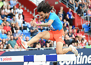 Fernando Carro (ESP) places fourth in the steeplechase in 8:33.76 during the IAAF Continental Cup 2018 at Mestkey Stadion in Ostrava, Czech Republic, Saturday, Sept. 8, 2018. (Jiro Mochizuki/Image of Sport)