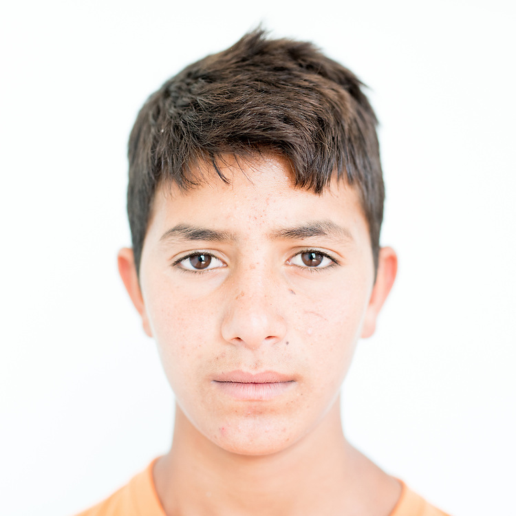 Yosif Baro Murad a 16 year old Yazidi from Khanasor, northern Iraq.<br /> <br /> <br /> This is a series of portraits of Yazidi refugees who were stranded since April 2016 in Greece.  All of them survived the Yazidi Genocide by ISIS in August 2014 and most of them have lost family members.