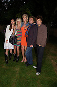Ruby Stewart, Kimberley Stewart , Penny Lancaster, Rod Stewart and Sean Stewart. The Serpentine Summer party co-hosted by Jimmy Choo. The Serpentine Gallery. 30 June 2005. ONE TIME USE ONLY - DO NOT ARCHIVE  © Copyright Photograph by Dafydd Jones 66 Stockwell Park Rd. London SW9 0DA Tel 020 7733 0108 www.dafjones.com