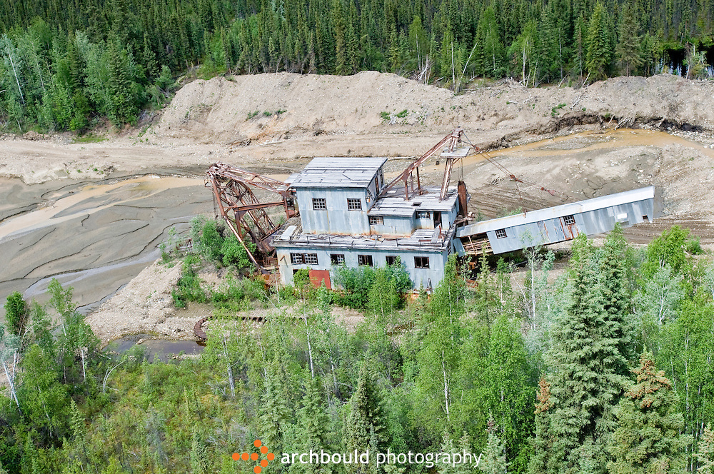 A gold dredge in the hills of Dawson, Yukon, Canada.<br /> <br /> NOT IN YOUR BUDGET? Contact Cathie for a price specific to your project.