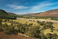 River Dee and Dee valley from the road near Braemar, Scottish Highlands, Uk