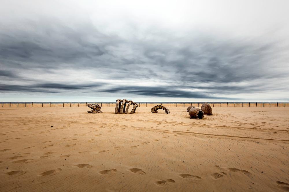 Beach sculpture in Ocean City, Maryland. Copyright 2016 Reid McNally.