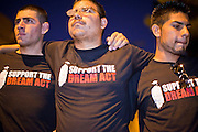 "Sept. 19 - PHOENIX, AZ: Students rally in support of the DREAM Act at US Sen. John McCain's office in Phoenix. About 30 people met in front of US Sen. John McCain's office in Phoenix Sunday night to demonstrate in support of the DREAM Act, which is scheduled to be debated in the US Senate on Tuesday, Sept 21. The Development, Relief and Education for Alien Minors Act (The ""DREAM Act"") is a piece of proposed federal legislation in the United States that was introduced in the United States Senate, and the United States House of Representatives on March 26, 2009. This bill would provide certain illegal immigrant students who graduate from US high schools, who are of good moral character, arrived in the U.S. as minors, and have been in the country continuously for at least five years prior to the bill's enactment, the opportunity to earn conditional permanent residency. In the early part of this decade McCain supported legislation similar to the DREAM Act, but his position on immigration has hardened in the last two years and he no longer supports it. The protesters, mostly area students, marched and drilled to show their support for the US military and then held a candle light vigil.   Photo by Jack Kurtz"