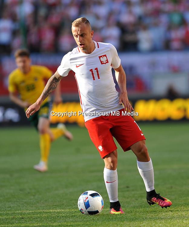 2016.06.06 Krakow <br /> Pilka Nozna Reprezentacja Mecz towarzyski<br /> Polska - Litwa<br /> N/z Kamil Grosicki<br /> Foto Rafal Rusek / PressFocus<br /> <br /> 2016.06.06 Krakow Poland<br /> Football Friendly Game<br /> Poland - Lithuania<br /> Kamil Grosicki<br /> Credit: Rafal Rusek / PressFocus