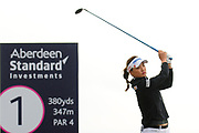 So Yeon Ryu tees off at the Aberdeen Standard Investments Ladies Scottish Open 2018 at Gullane Golf Club, Gullane, Scotland on 28 July 2018. Picture by Kevin Murray.
