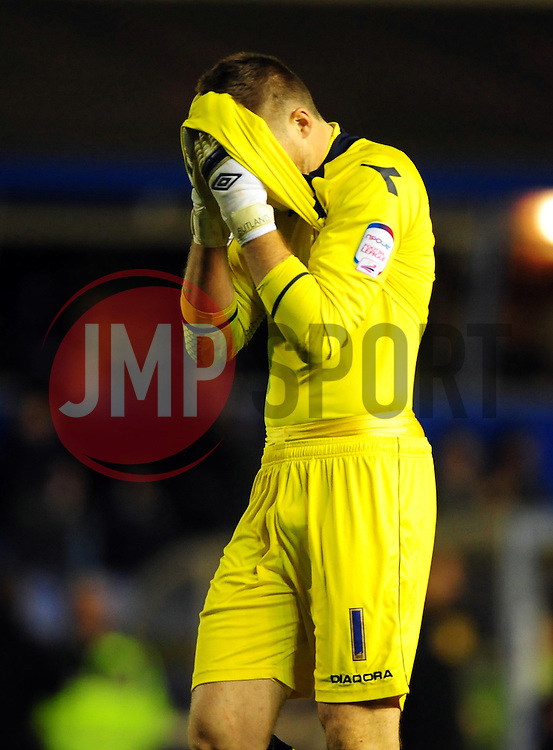 Birmingham City's Jack Butland - Photo mandatory by-line: Joe Meredith/JMP  - Tel: Mobile:07966 386802 03/11/2012 - Birmingham City v Bristol City - SPORT - FOOTBALL - Championship -  Birmingham  - St Andrews