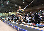 Jan 18, 2019; Reno, NV, USA; Katie Nageotte (USA) places second in the women's pole vault at 15-6 1/4 (4.75m) during the UCS Spirit National Pole Vault Summit at the Reno-Sparks  Livestock Events Center.