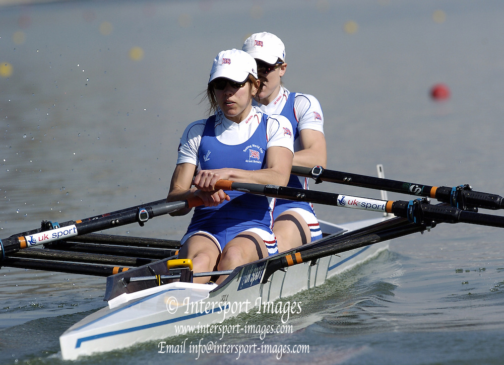 2005 FISA Team Cup, Rio Guadalquiver Rowing Course, Seville, SPAIN; GBR LW2X  Stroke Jo Hammond and Helen Casey final.Photo  Peter Spurrier. .email images@intersport-images