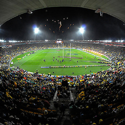 A general view during the Super Rugby final match between the Hurricanes and Lions at Westpac Stadium, Wellington, New Zealand on Saturday, 6 August 2016. Photo: Dave Lintott / lintottphoto.co.nz