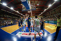 Players during friendly match between National teams of Slovenia and Ukraine for Eurobasket 2013 on July 26, 2013 in Dvorana Komunalnega centra, Domzale, Slovenia. Slovenia defeated Ukraine 74-46. (Photo by Vid Ponikvar / Sportida.com)
