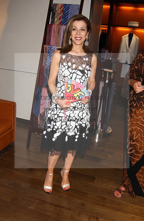HRH PRINCESS FIRYAL OF JORDAN at a dinner hosted by Asprey at their store at 167 New Bond Street, London W1 on 12th July 2005.<br />