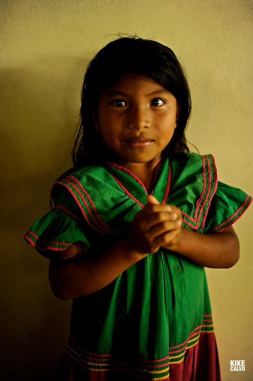 Indigenous children at school at a Ngo?be Bugle? Community. Chiriqui. Panama.