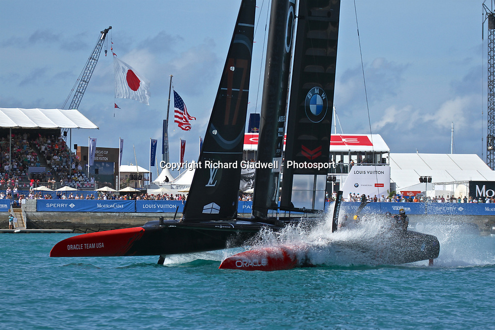 Race 12 - Oracle Team USA performa a victory roll  - 35th America's Cup - Bermuda  May 28, 2017 . Copyright Image: Richard Gladwell / Sail World / www.photosport.nz