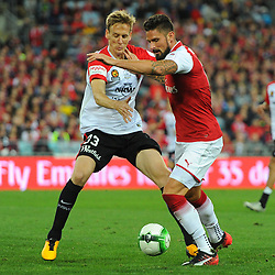 Olivier Giroud of Arsenal battles for the ball during Western Sydney Wanderers vs Arsenal, Preseason Friendly , 15.07.17 (c) Harriet Lander | SportPix.org.uk