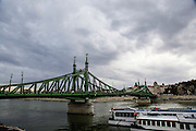 Eastern Europe, Hungary, Budapest, The Danube River Liberty Bridge