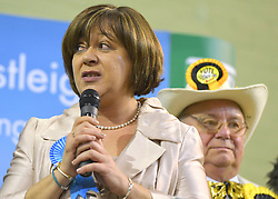 © Licensed to London News Pictures. 01/03/2013. Eastleigh, UK MARIA HUTCHINGS - Conservative looses. The voters of Eastleigh vote to choose a new MP in a by-election prompted by the resignation of former Lib Dem cabinet minister Chris Huhne. Polling will continued 22:00 GMT 28/02/13, with votes counted overnight on Thursday. There are 14 candidates in total on the ballot papers.. Photo credit : Stephen Simpson/LNP