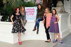 Carrie Grant, Carole Smillie, Sarah Cawood, Sam Mann and Annabel Croft pose in the Palm Court at Alexandra Palace to celebrate the opening of this year's Mums Show Live!, the UK's first exhibition aimed at parents with children aged 4 - 12 year olds, London, England, May 16, 2013. Photo by:  Chris Joseph / i-Images
