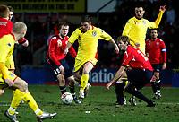 Photo: Richard Lane/Richard Lane Photography. <br />Wales v Norway. Nationwide International. 06/02/2008. <br />Wales' Jason Koumas fires in the second goal.