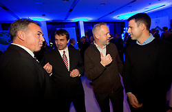 and Dusan Kosic during traditional New Year Gala Night Reception of NZS - Football Association of Slovenia, on December 17, 2012 in Kongresni center, Brdo pri Kranju, Slovenia. (Photo By Vid Ponikvar / Sportida.com)