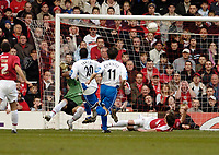 Photo: Leigh Quinnell.<br /> Bristol City v Middlesbrough. The FA Cup. 27/01/2007.<br /> Boros' Yakubu fires the ball into the top of the net for a goal.