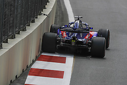 April 27, 2018 - Baku, Azerbaijan - HARTLEY Brendon (nzl), Scuderia Toro Rosso Honda STR13, action during the 2018 Formula One World Championship, Grand Prix of Europe in Azerbaijan from April 26 to 29 in Baku - Photo  /  Motorsports: World Championship; 2018; Grand Prix Azerbaijan, Grand Prix of Europe, Formula 1 2018 Azerbaijan Grand Prix, (Credit Image: © Hoch Zwei via ZUMA Wire)