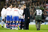Photo: Richard Lane/Sportsbeat Images.<br />England v Croatia. UEFA European Championships Qualifying. 21/11/2007. <br />Prince William meets the teams.