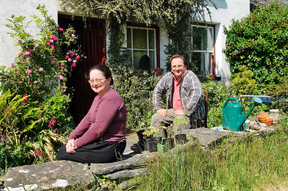 Kathy and Roger Adair in the garden of their home at Marble Hill near Dunfanaghy in north Donegal, Ireland