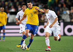 28.06.2010, Ellis Park Stadium, Johannesburg, RSA, FIFA WM 2010, Brazil (BRA) vs Chile. (CHI), im Bild Lucio (Brasile). EXPA Pictures © 2010, PhotoCredit: EXPA/ InsideFoto/ Giorgio Perottino +++ for Austria and Slovenia only +++ / SPORTIDA PHOTO AGENCY