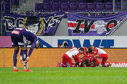 05.05.2019, Generali Arena, Wien, AUT, 1. FBL, FK Austria Wien vs FC Red Bull Salzburg, Meistergruppe, 29. Spieltag, im Bild Salzburg Spieler feiern den Treffer // players of Salzburg celebrate the goal during the tipico Bundesliga master group 29th round match between FK Austria Wien and FC Red Bull Salzburg at the Generali Arena in Wien, Austria on 2019/05/05. EXPA Pictures © 2019, PhotoCredit: EXPA/ Florian Schroetter