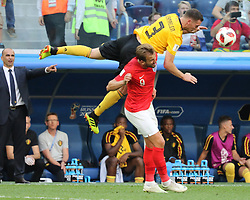 July 14, 2018 - St. Petersburg, Russia - July 14, 2018, St. Petersburg, FIFA World Cup 2018, Football match for the third place in the World Cup. Football match of Belgium - England at the stadium of St. Petersburg. Player of the national team Thomas Vermaelen; Harry Kane. (Credit Image: © Russian Look via ZUMA Wire)