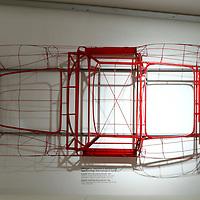 Ferrari 250 GTO wireframe at Museo Casa Enzo Ferrari, 2014