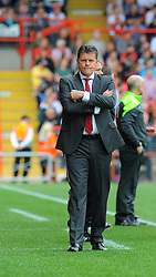 Bristol City manager, Steve Cotterill  shows his frustration.  - Photo mandatory by-line: Nizaam Jones- Mobile: 07583 3878221 - 27/09/2014 - SPORT - Football - Bristol - Ashton Gate - Bristol City v MK Dons - Sports