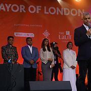 London, Uk. 15th Oct, 2017. Speaker Mayor of London, Sadiq Khan at the Diwali in Trafalgar Square.