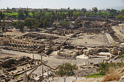 "Israel, Bet Shean General view. During the Hellenistic period Bet Shean had a Greek population and was called Scythopolis. In 64 BCE it was taken by the Romans, rebuilt, and made the capital of the Decapolis, the ""Ten Cities"" of Samaria."
