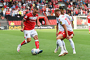 Jack Hunt (32) of Bristol City on the attack during the EFL Sky Bet Championship match between Bristol City and Nottingham Forest at Ashton Gate, Bristol, England on 4 August 2018. Picture by Graham Hunt.