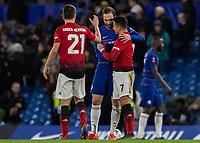 Football - 2018 / 2019 Emirates FA Cup - Fifth Round: Chelsea vs. Manchester United <br /> <br /> Gonzalo Higuain (Chelsea FC)  congratulates Alexis Sanchez (Manchester United) at Stamford Bridge<br /> <br /> COLORSPORT/DANIEL BEARHAM