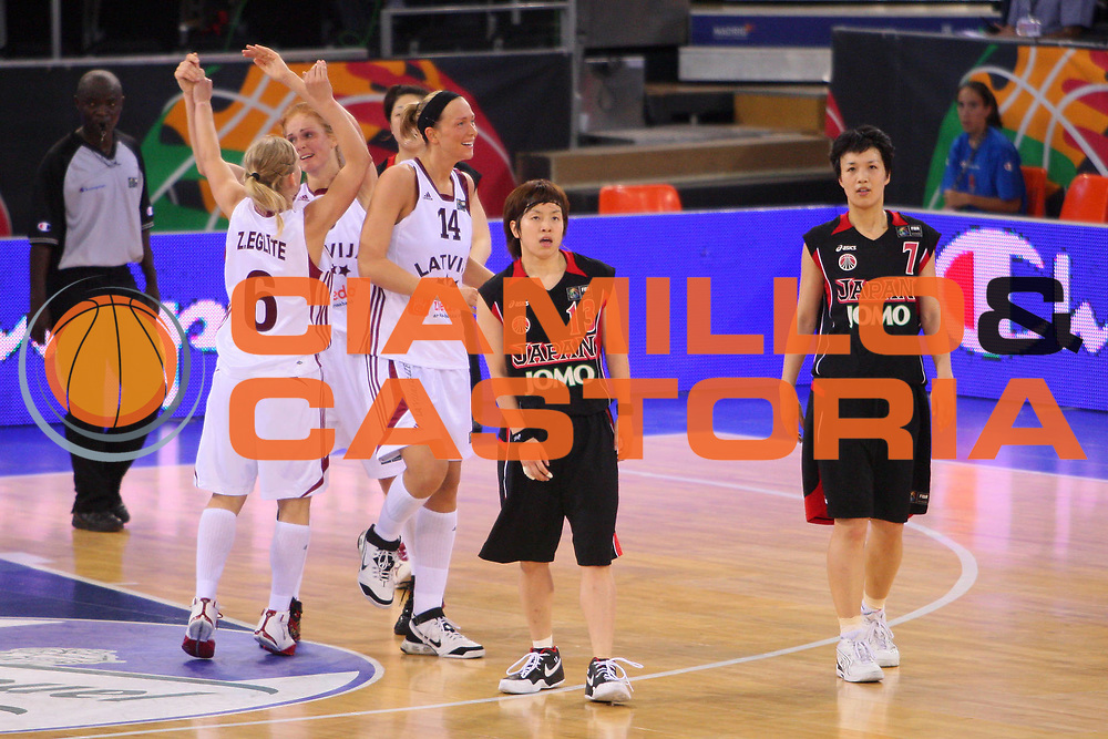 DESCRIZIONE : Madrid 2008 Fiba Olympic Qualifying Tournament For Women Latvia Japan <br /> GIOCATORE : Yuko Oga Sachiko Ishikawa <br /> SQUADRA : Japan Giappone <br /> EVENTO : 2008 Fiba Olympic Qualifying Tournament For Women <br /> GARA : Latvia Japan Lettonia Giappone <br /> DATA : 11/06/2008 <br /> CATEGORIA : Delusione <br /> SPORT : Pallacanestro <br /> AUTORE : Agenzia Ciamillo-Castoria/S.Silvestri <br /> Galleria : 2008 Fiba Olympic Qualifying Tournament For Women <br /> Fotonotizia : Madrid 2008 Fiba Olympic Qualifying Tournament For Women Latvia Japan <br /> Predefinita :