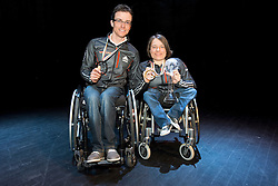 FLEIG Martin, WICKER Anja, GER, Medal Ceremony, 2015 IPC Nordic and Biathlon World Cup Finals, Surnadal, Norway